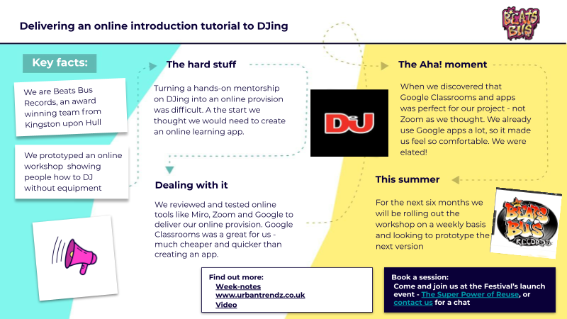 Delivering an online introduction tutorial to DJing