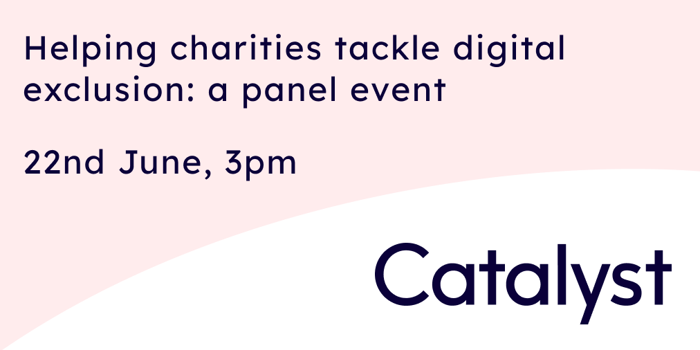Helping charities tackle digital exclusion: a panel event
