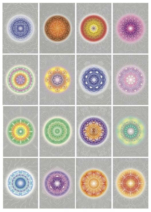 Aroma Karten Set, Mandala- Öl Bilder