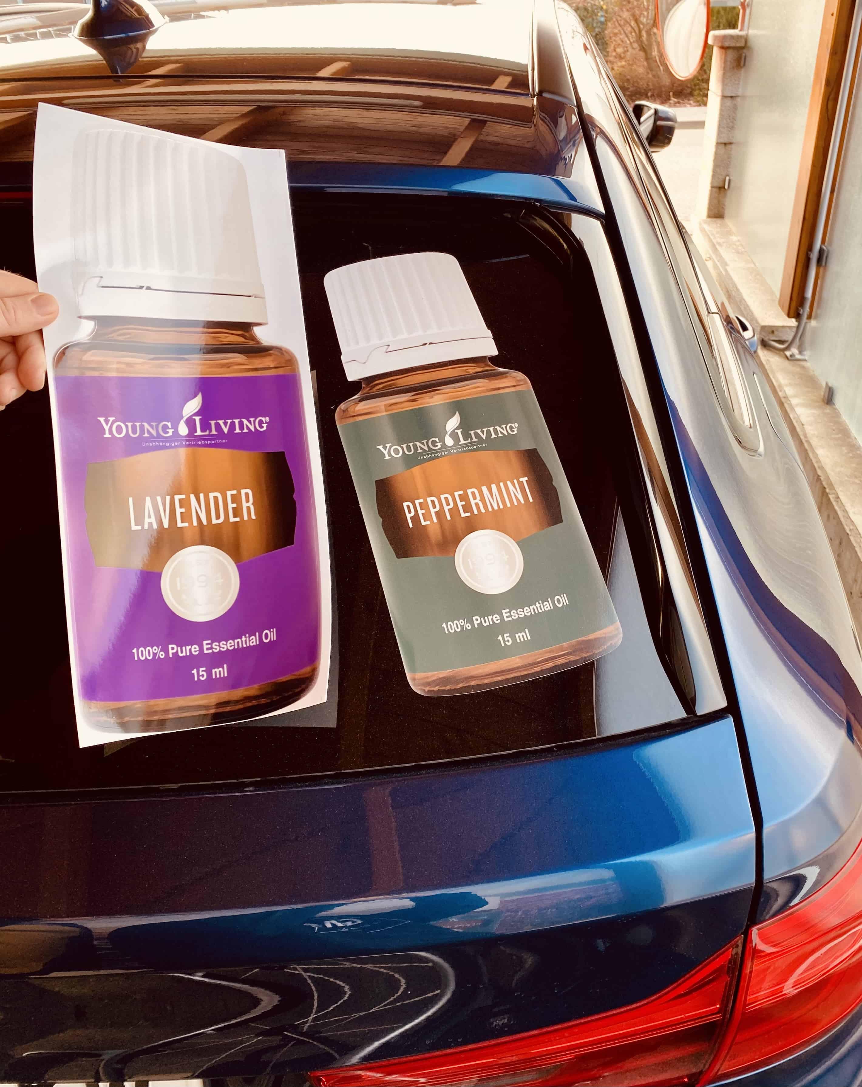 Auto Aufkleber Öl Flasche Lavendel Werbung