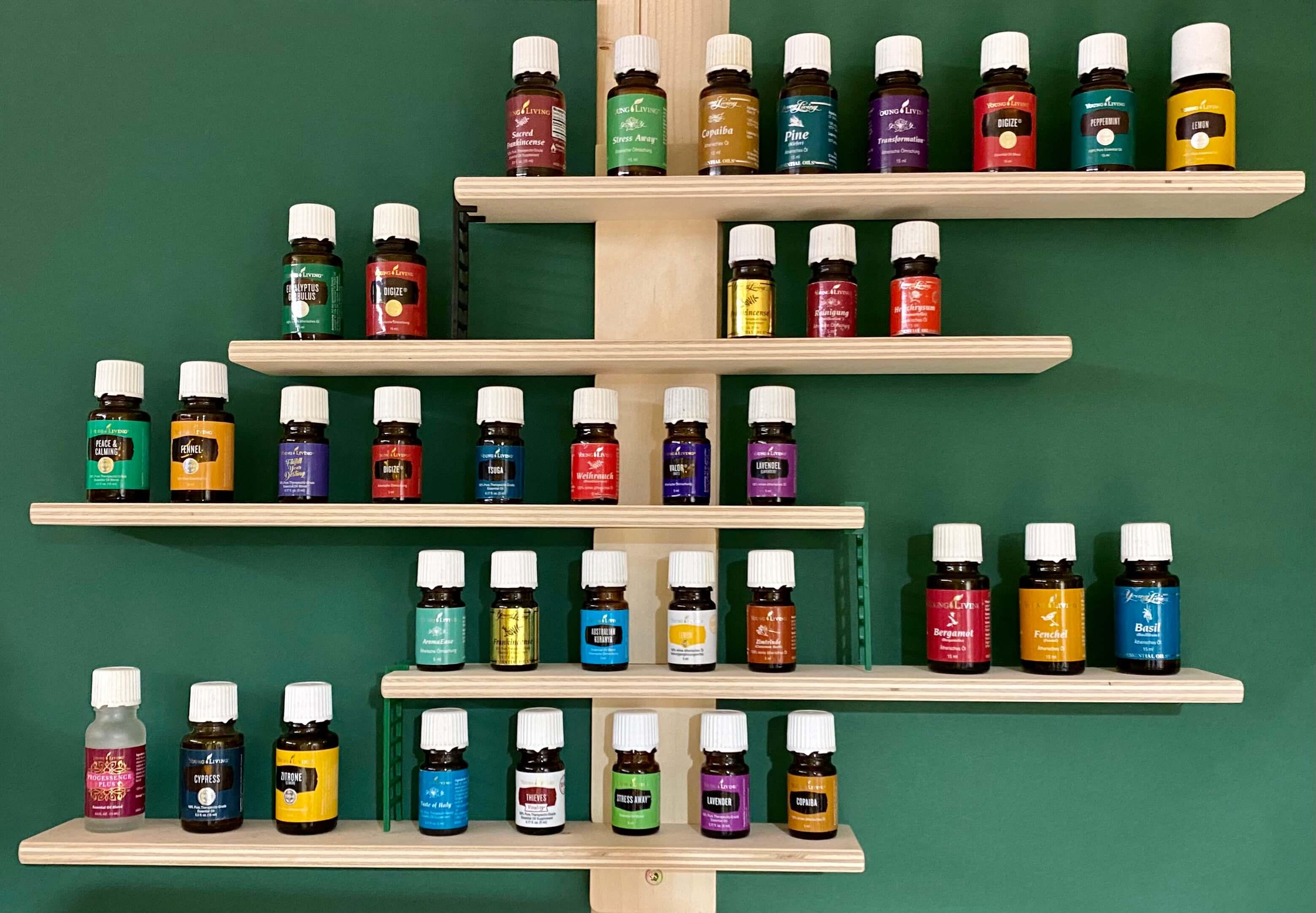 Ätherisches Öl Young Living: Öle Wand Regal
