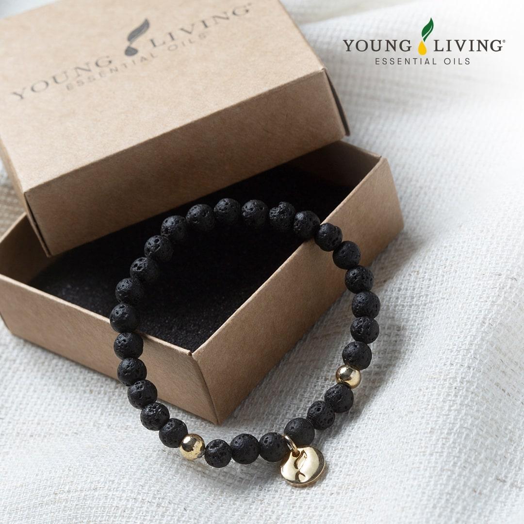 Ätherisches Öl Young Living: Lava Bracelet (Lava Perlen Handband)