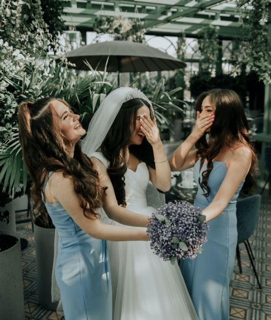 La mariée et ses demoiselles d'honneur à Lille