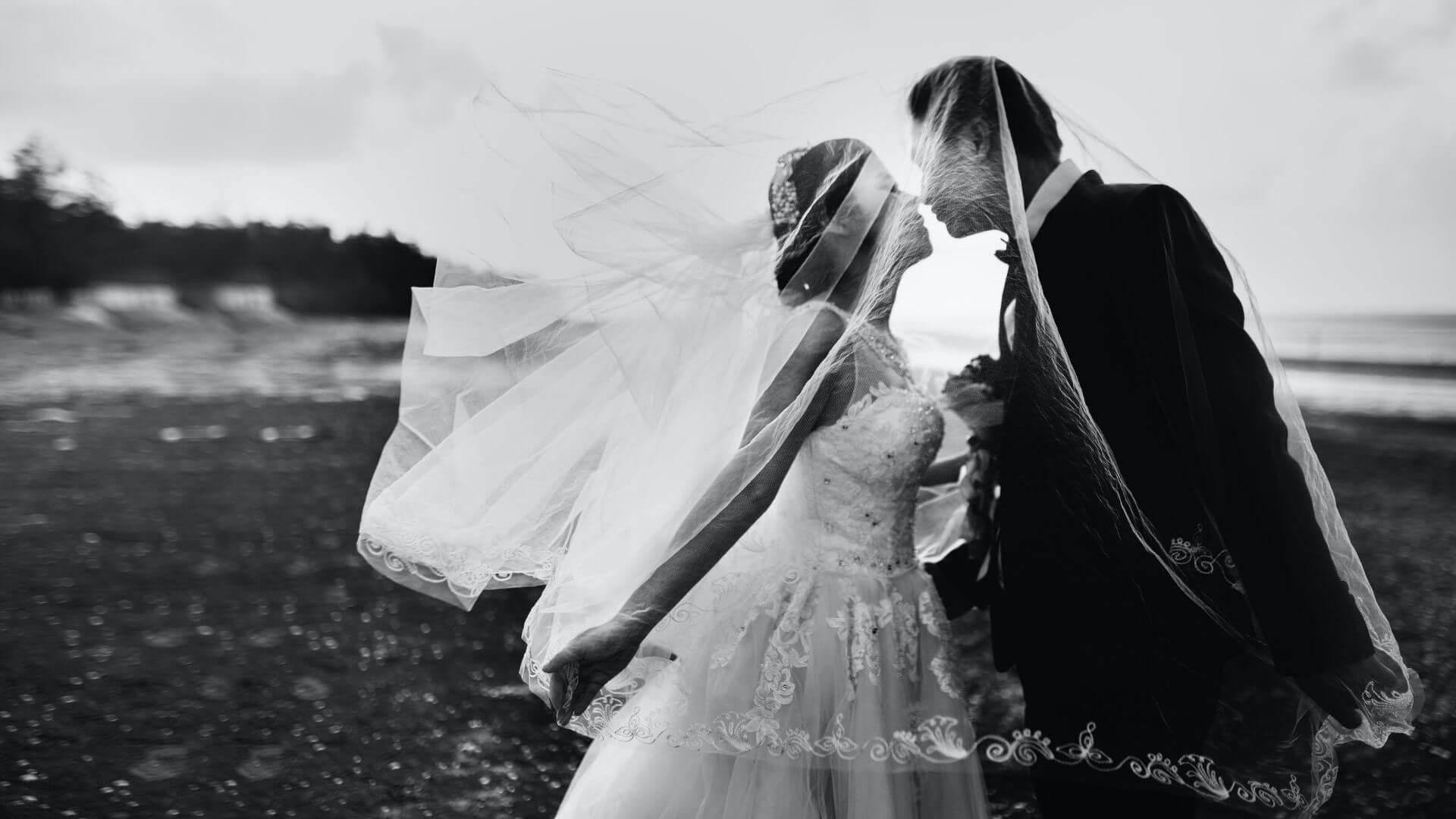 Les mariés s'embrassent dans les Hauts-de-France / Nord Pas-de-Calais