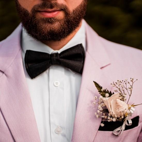 Photo de la fleur portée par le marié