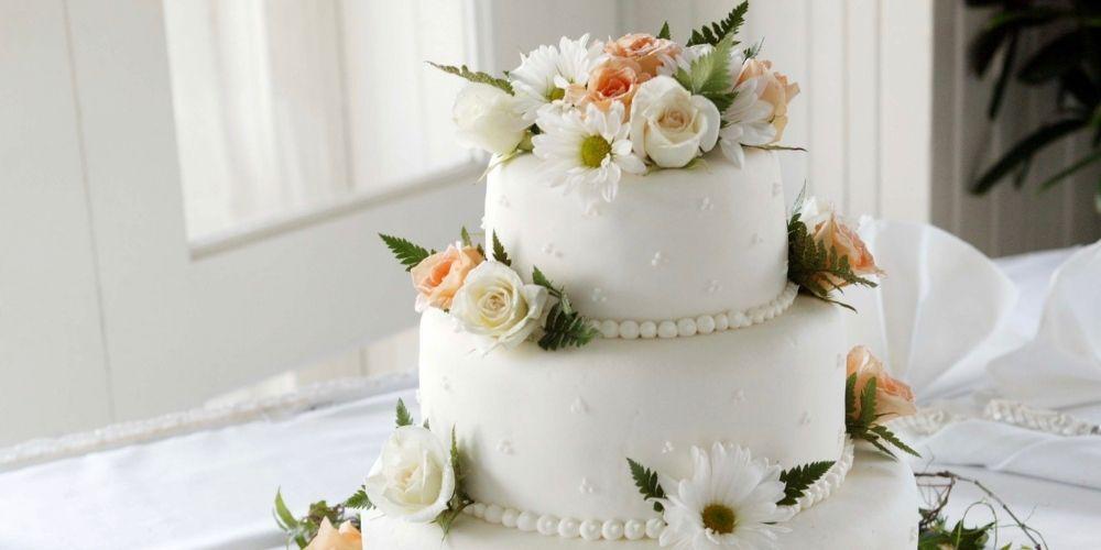 Photo d'un gâteau de mariage