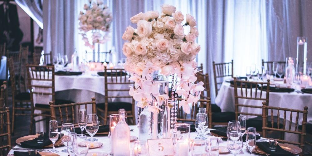 Décoration de la table de mariage