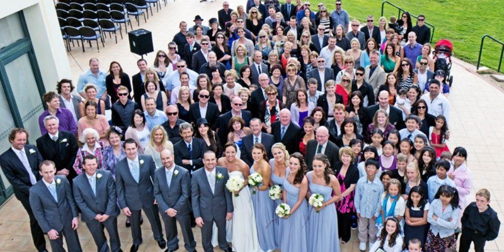 La photo générale fait partie de la liste des photos de groupe de mariage