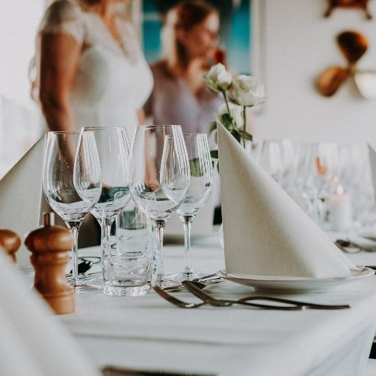 Photo d'une table de réception