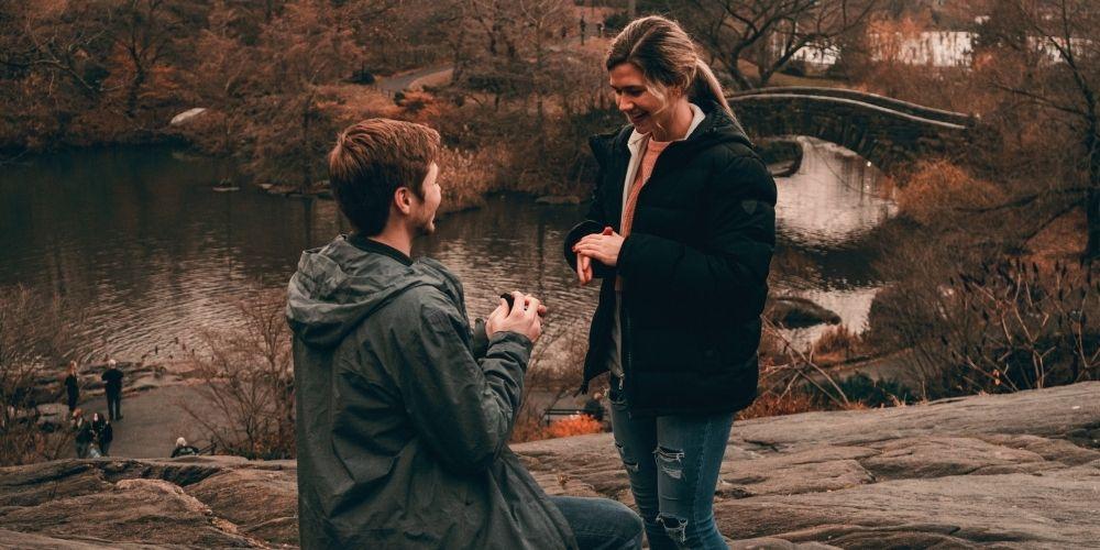 Choisissez un parc pour demande en mariage romantique