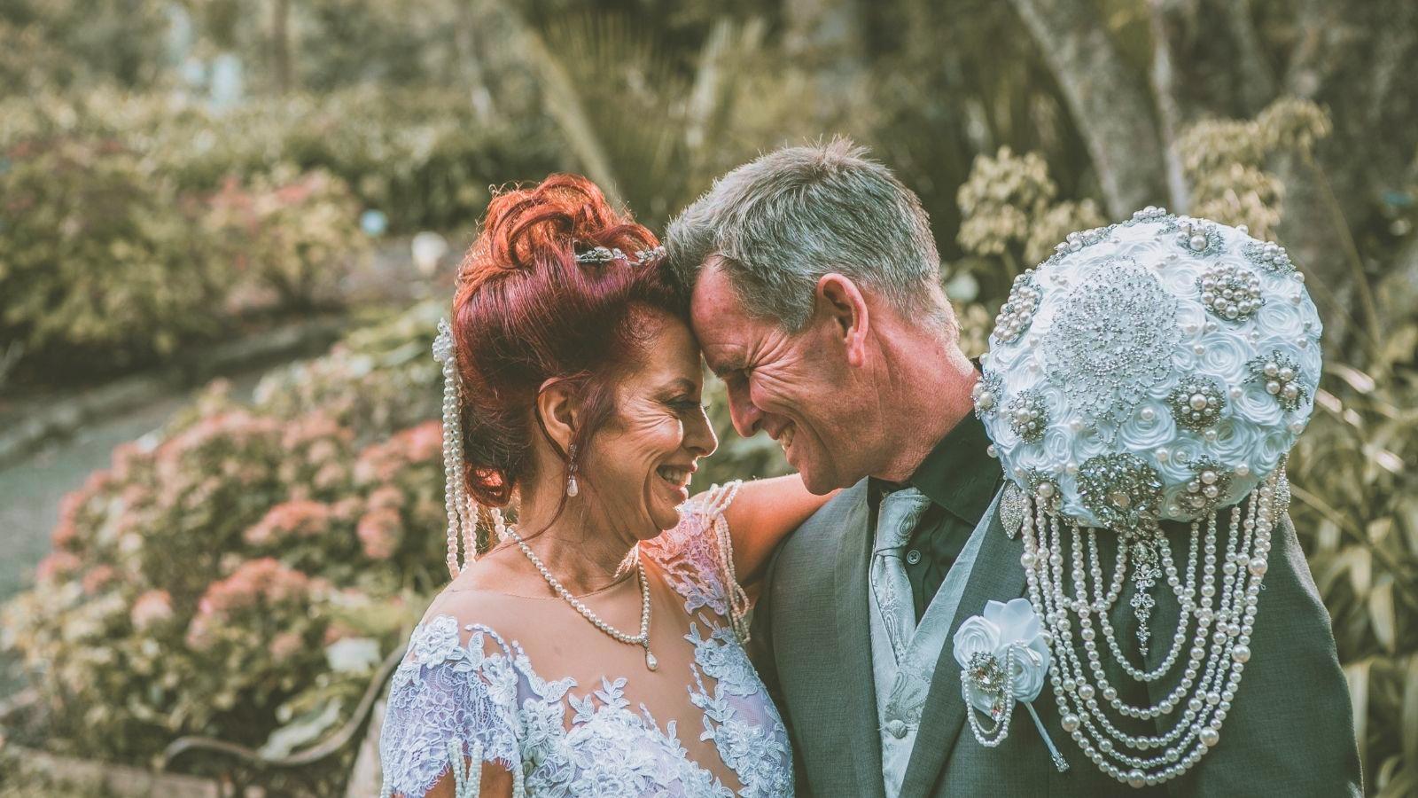 Les mariés à Aix-les-Bains