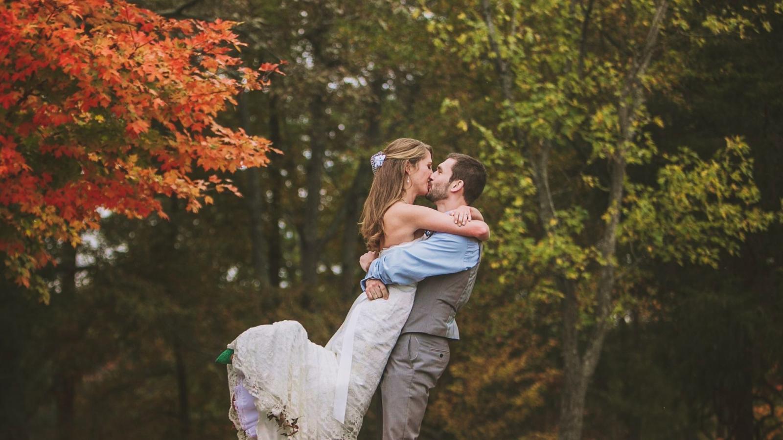 Les mariés à Albertville