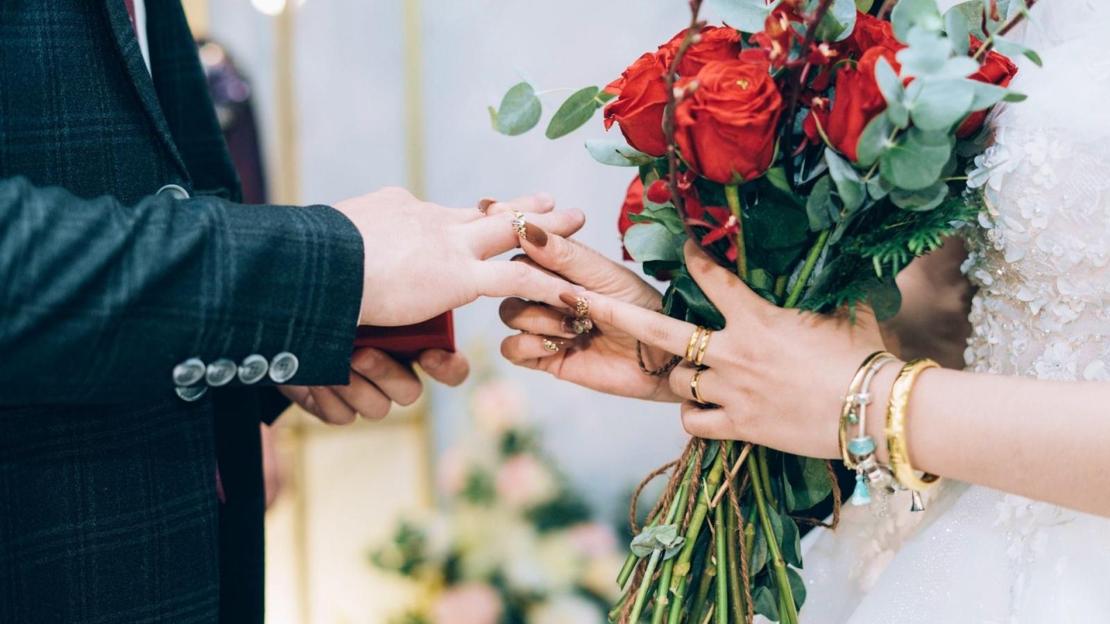Les mariés à Annonay