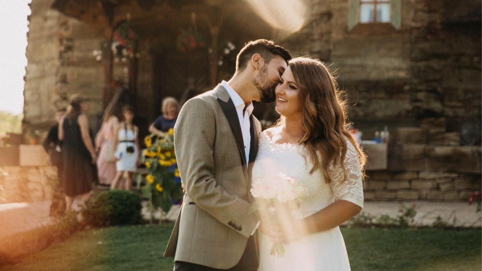 Photo des mariés à Aubervilliers