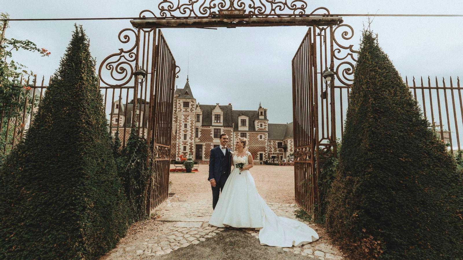 Les mariés posent à Bergerac