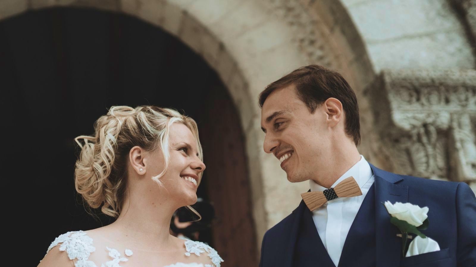 Les mariés posent à Bourges