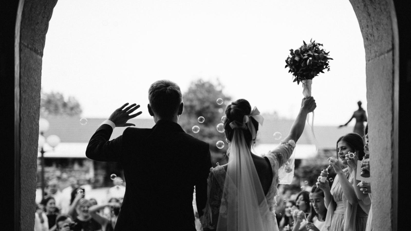 Un couple de mariés à Challans