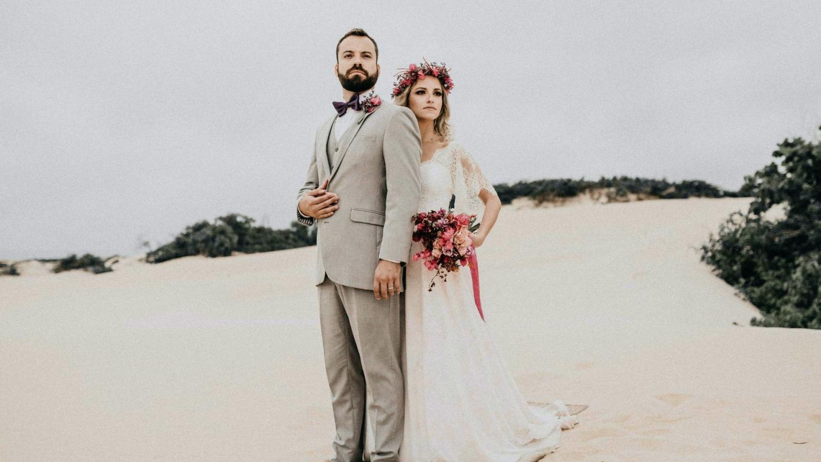 Un couple de mariés à Chambéry