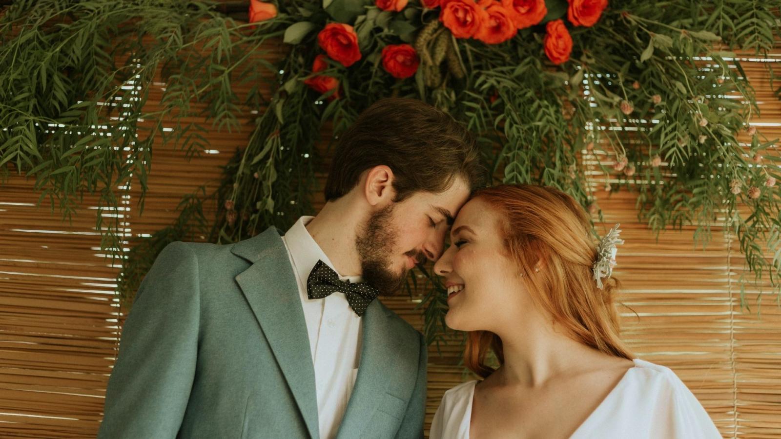 Le marié et la mariée à Chatou