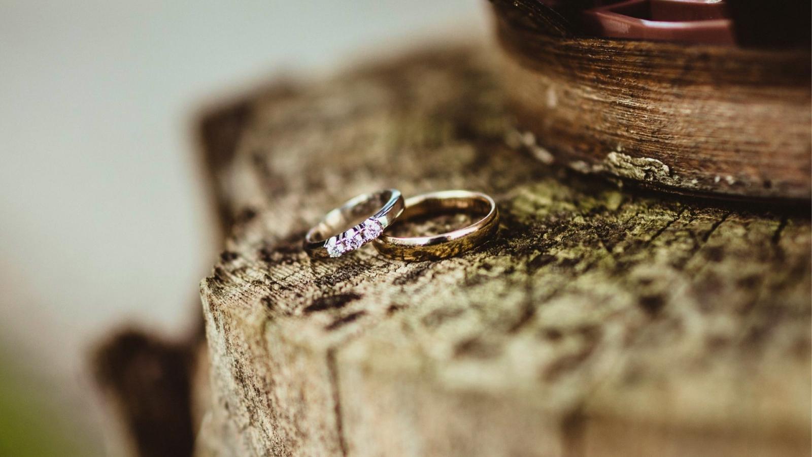 Les mariés ensemble à Foix