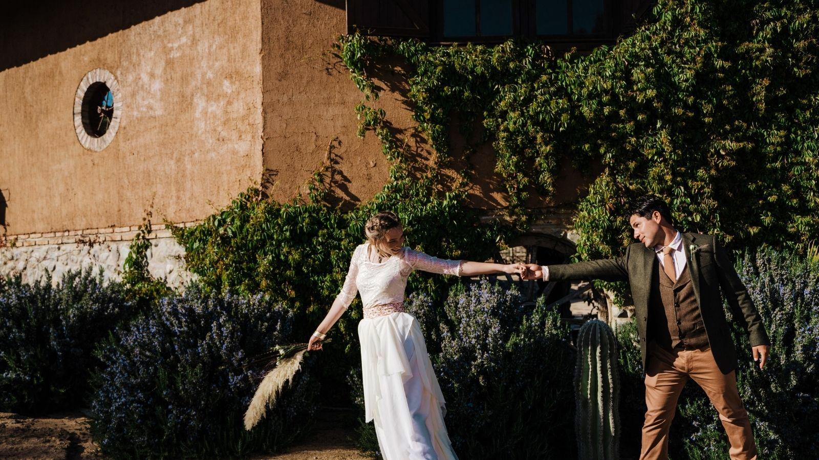 Photo d'un couple de mariés à Frontignan