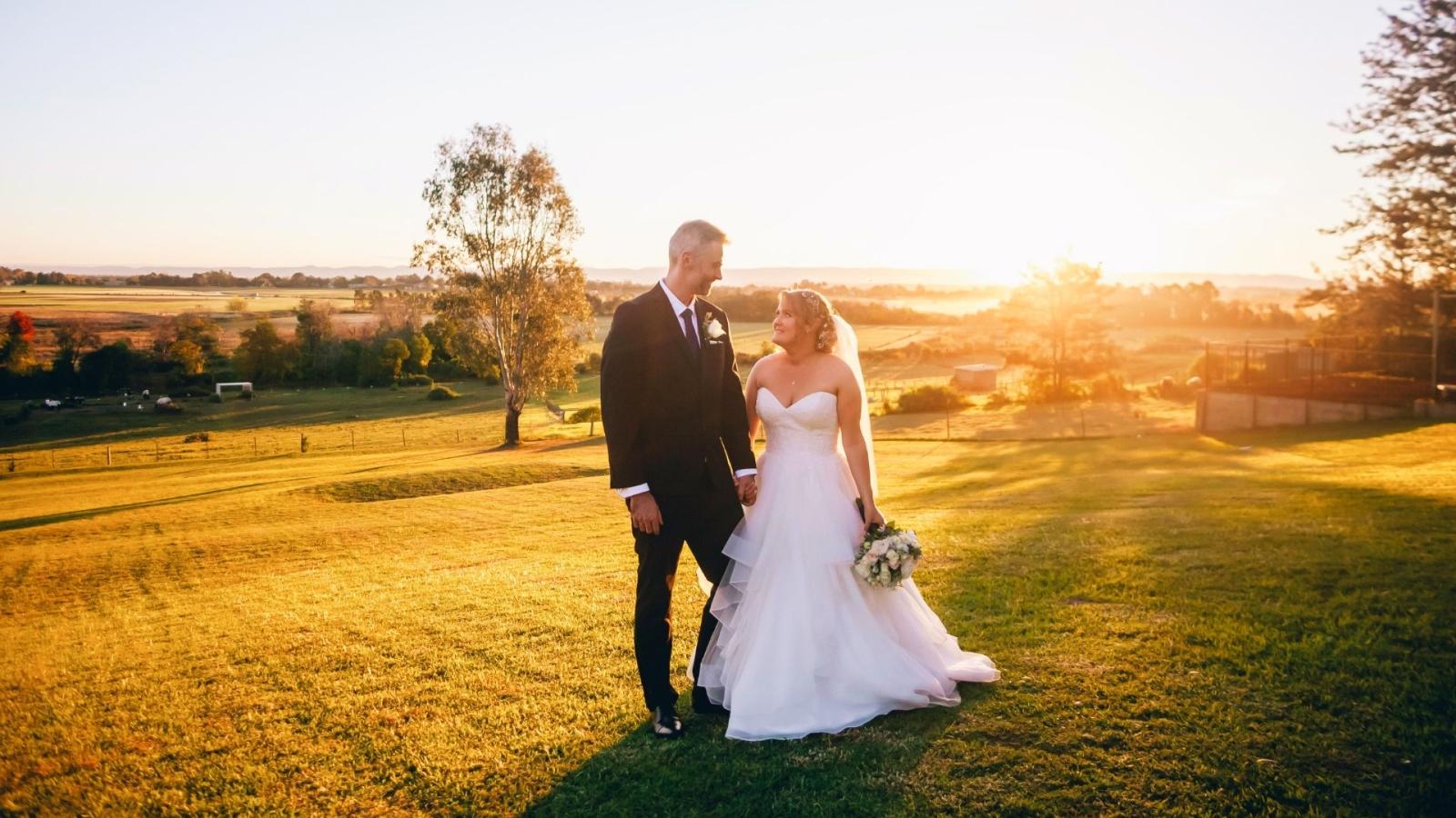 Photo d'un couple de mariés à Gardanne
