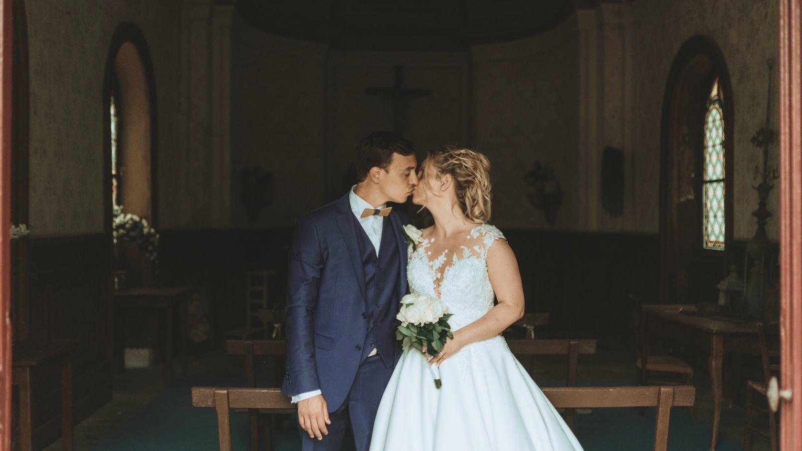 Photo d'un couple de mariés à Gisors