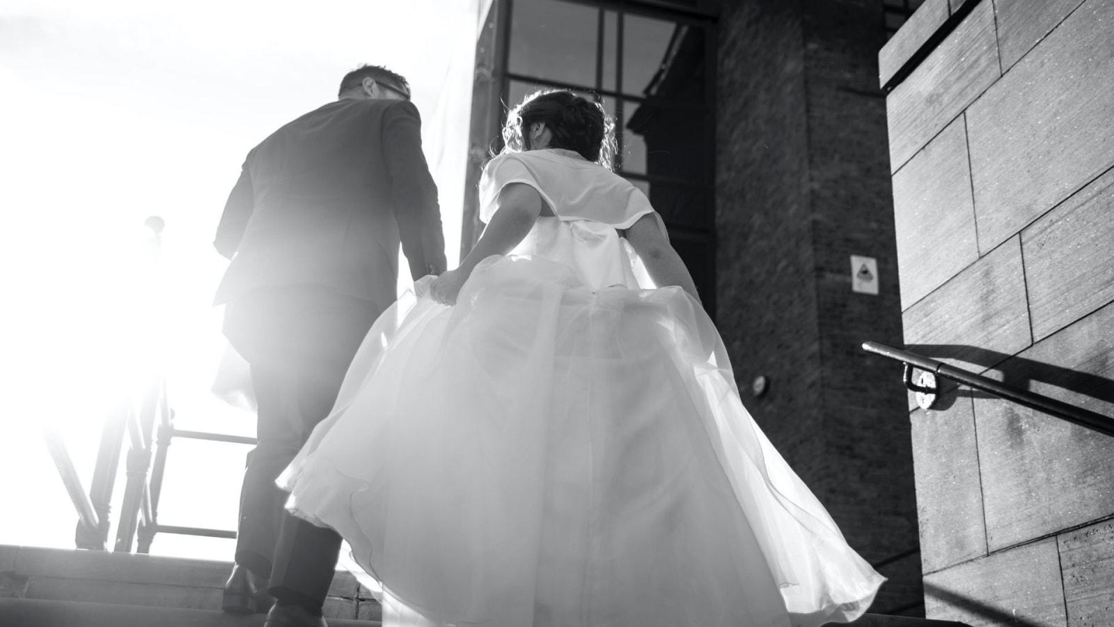 Photo du marié et de la marié à Honfleur