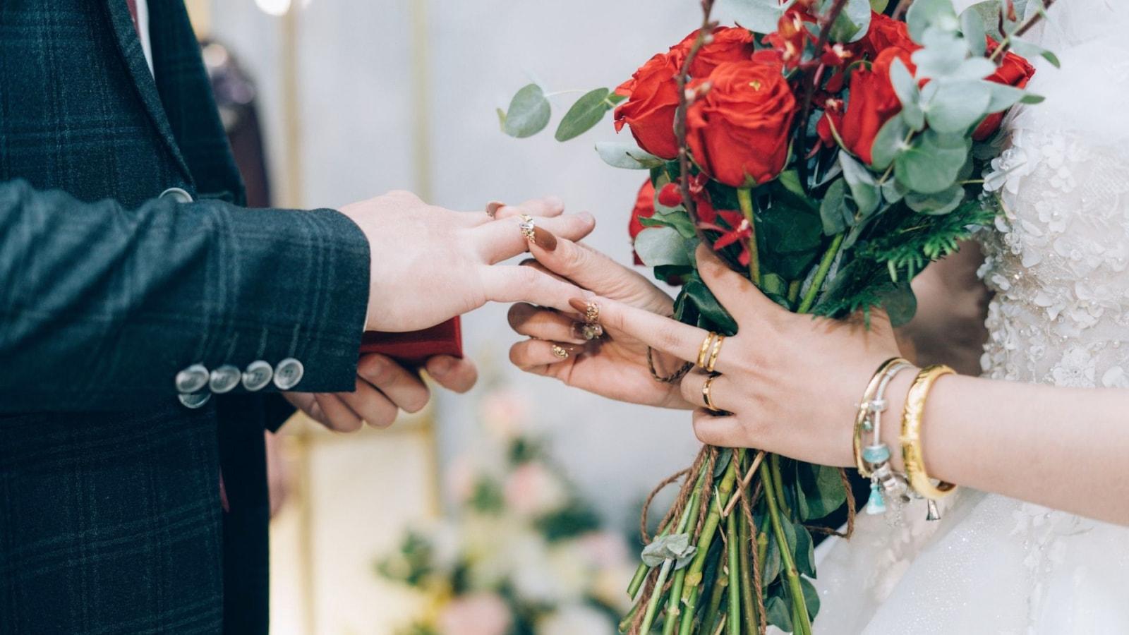 Photo du marié et de la marié à La Seyne-sur-Mer