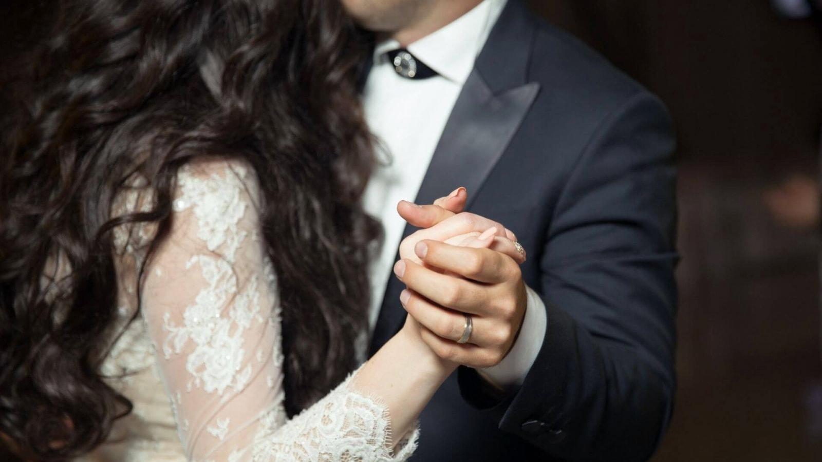 Photo des mariés ensemble à Massy