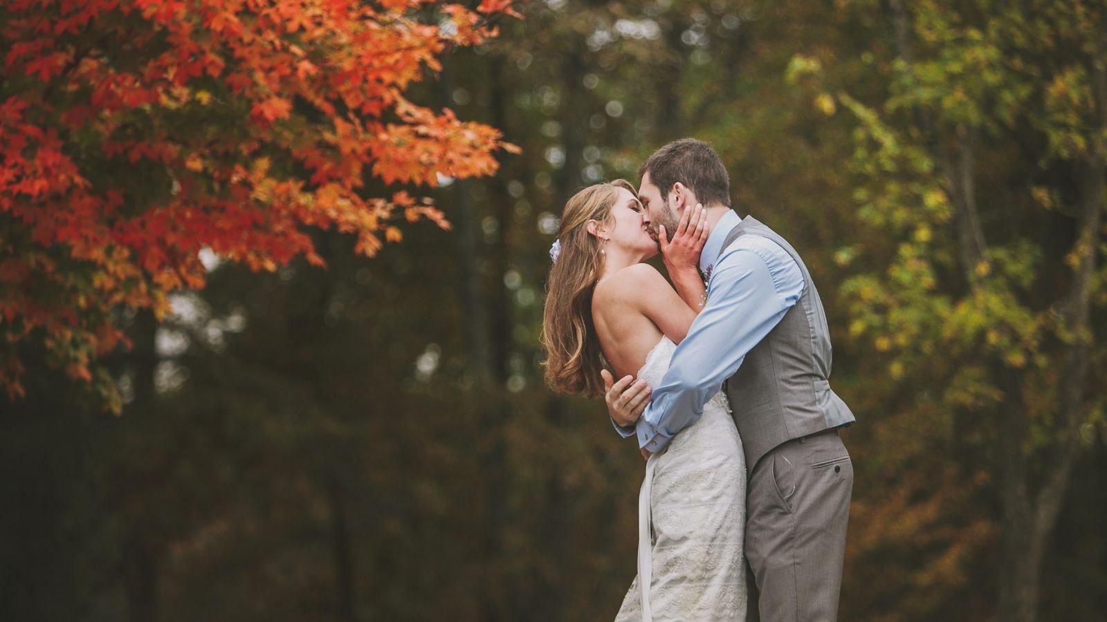Une photo des deux mariés à Menton