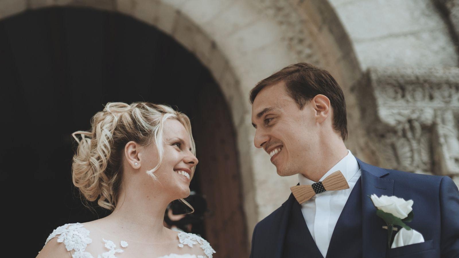 Une photo des deux mariés à Montargis