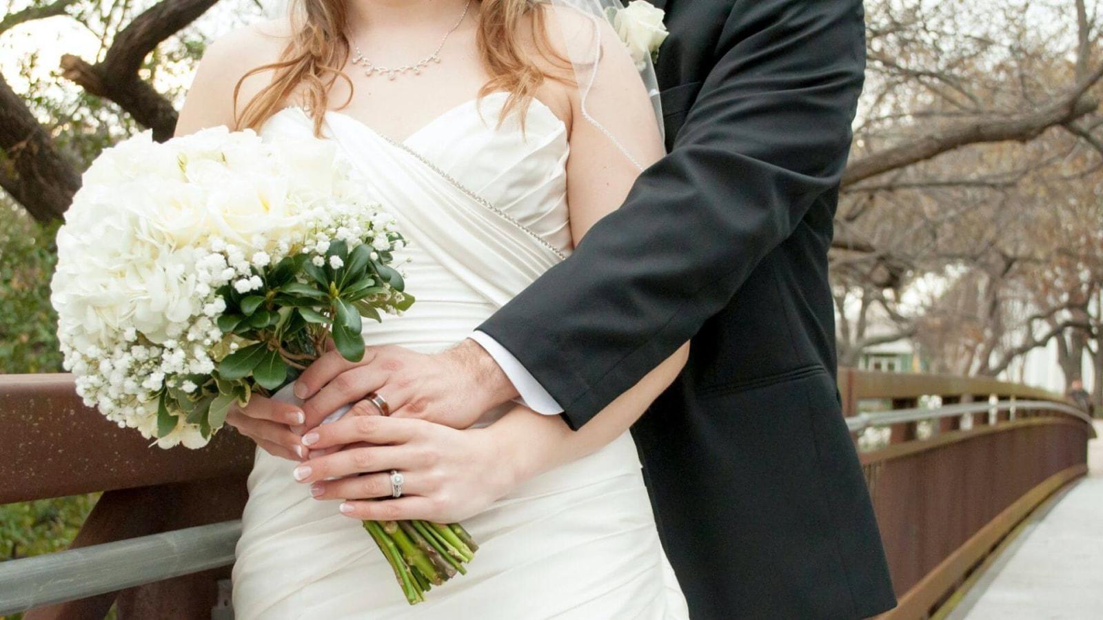 Une photo des deux mariés à Montigny-le-Bretonneux