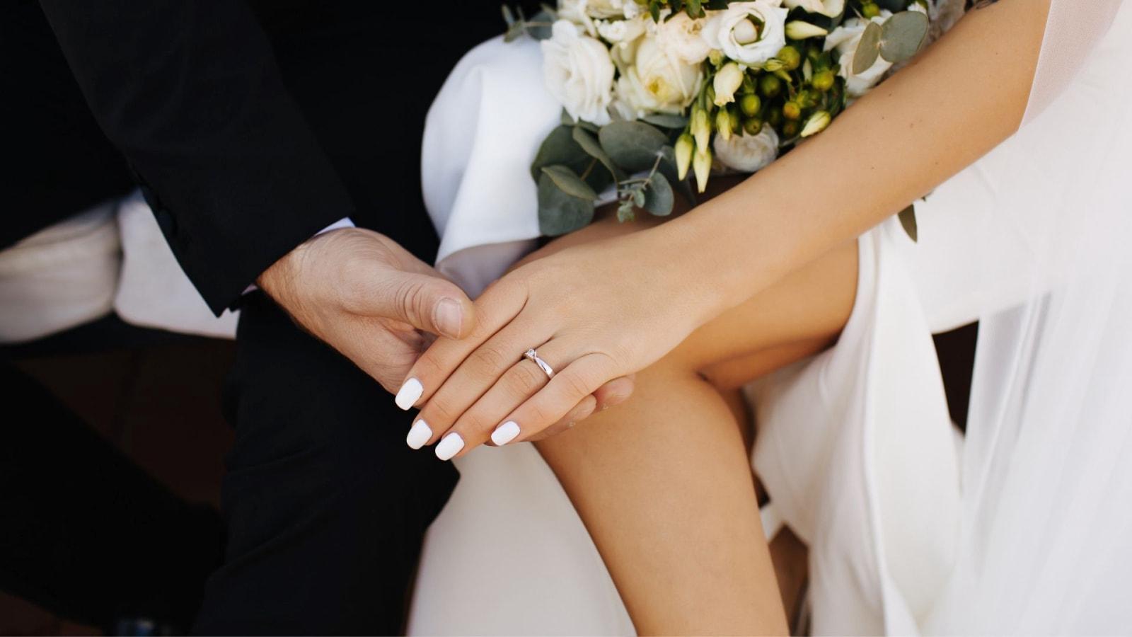 Photo des deux mariés ensemble à Plaisir