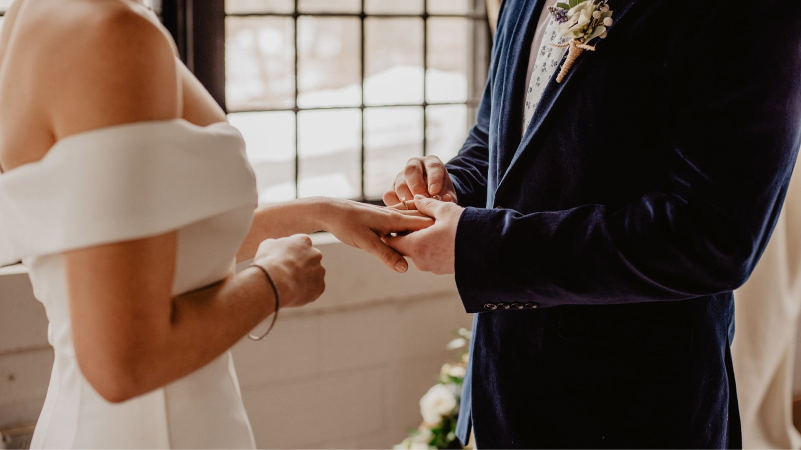 Photo des deux mariés ensemble à Privas