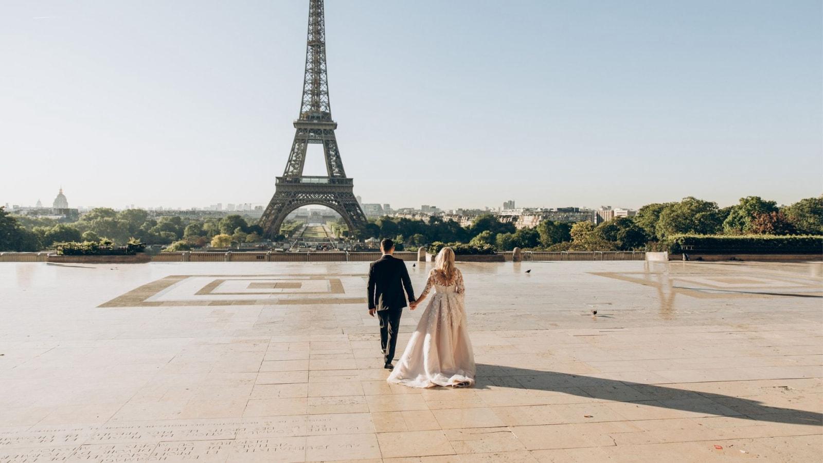 Photo des deux mariés ensemble à Provins