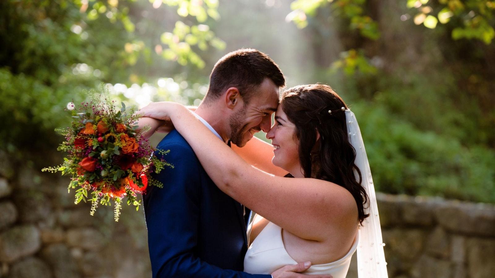 Une photo des mariés à Royan