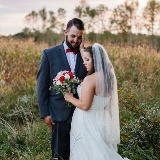 Photo des mariés ensemble