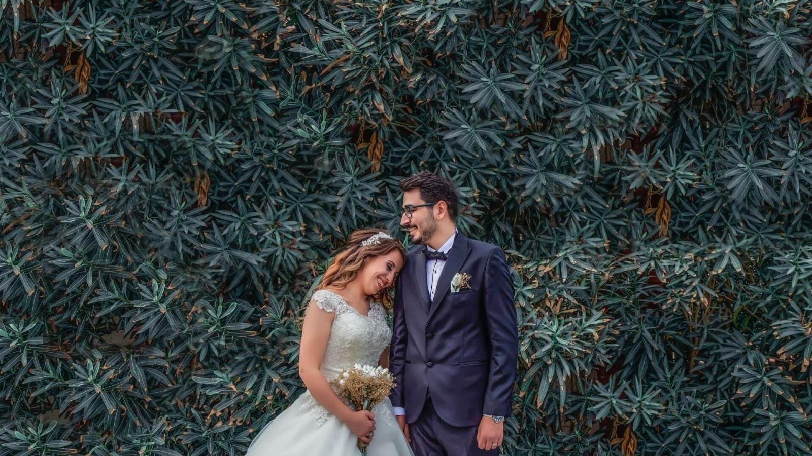 Une photo des mariés à Saint-Brieuc