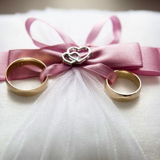 Vue des mariés ensemble