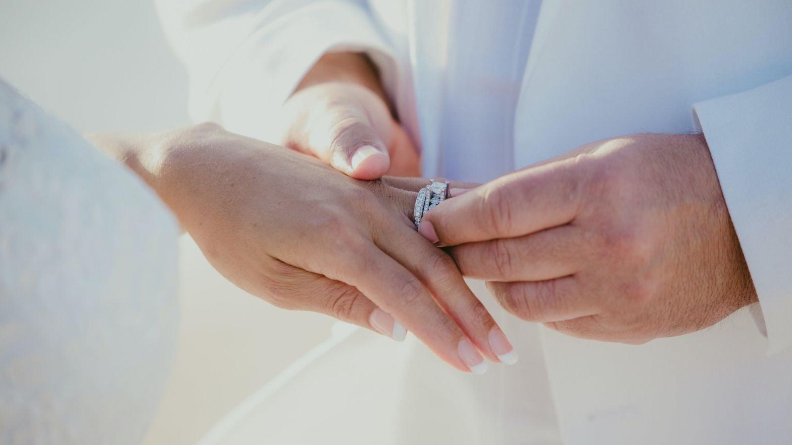 Une photo des mariés ensemble à Sartrouville