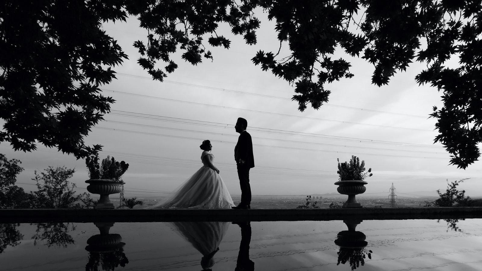 Vue des mariés à Toul