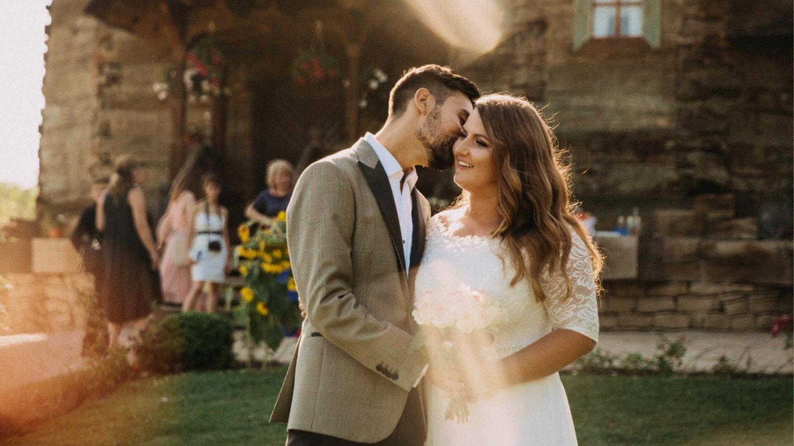Photo des mariés en Côte-d'Or