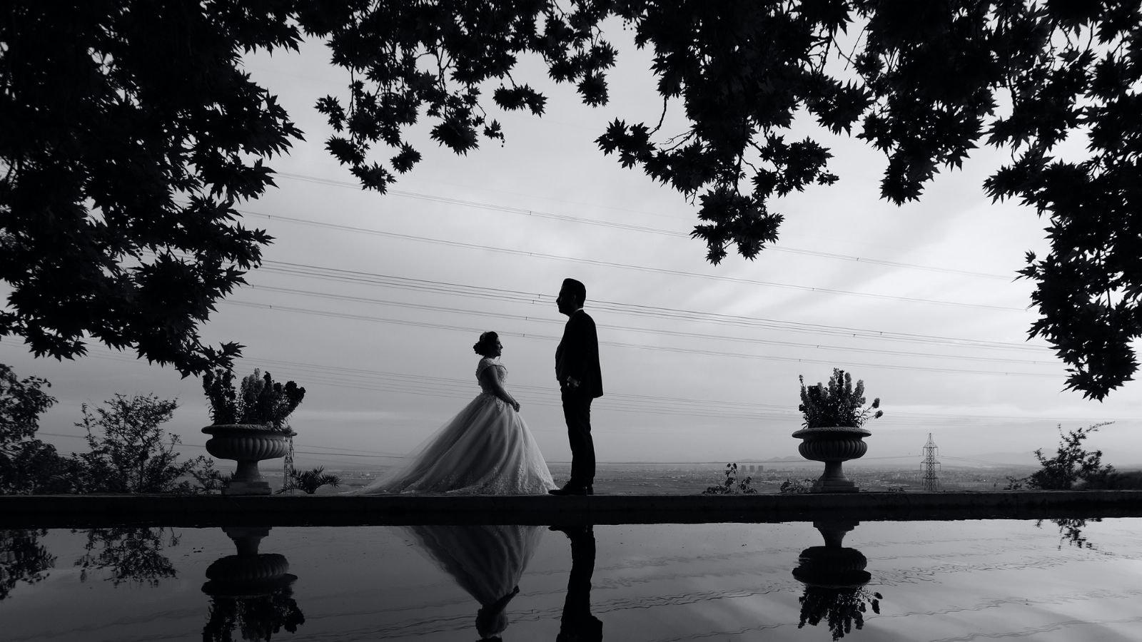 Les mariés posent en Indre