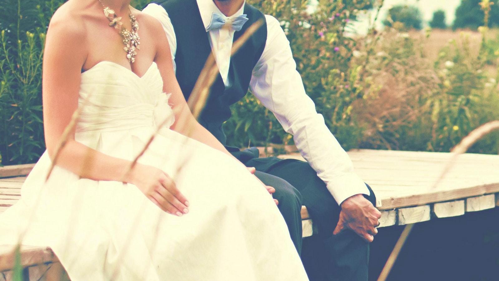 Vue des mariés dans la Meuse