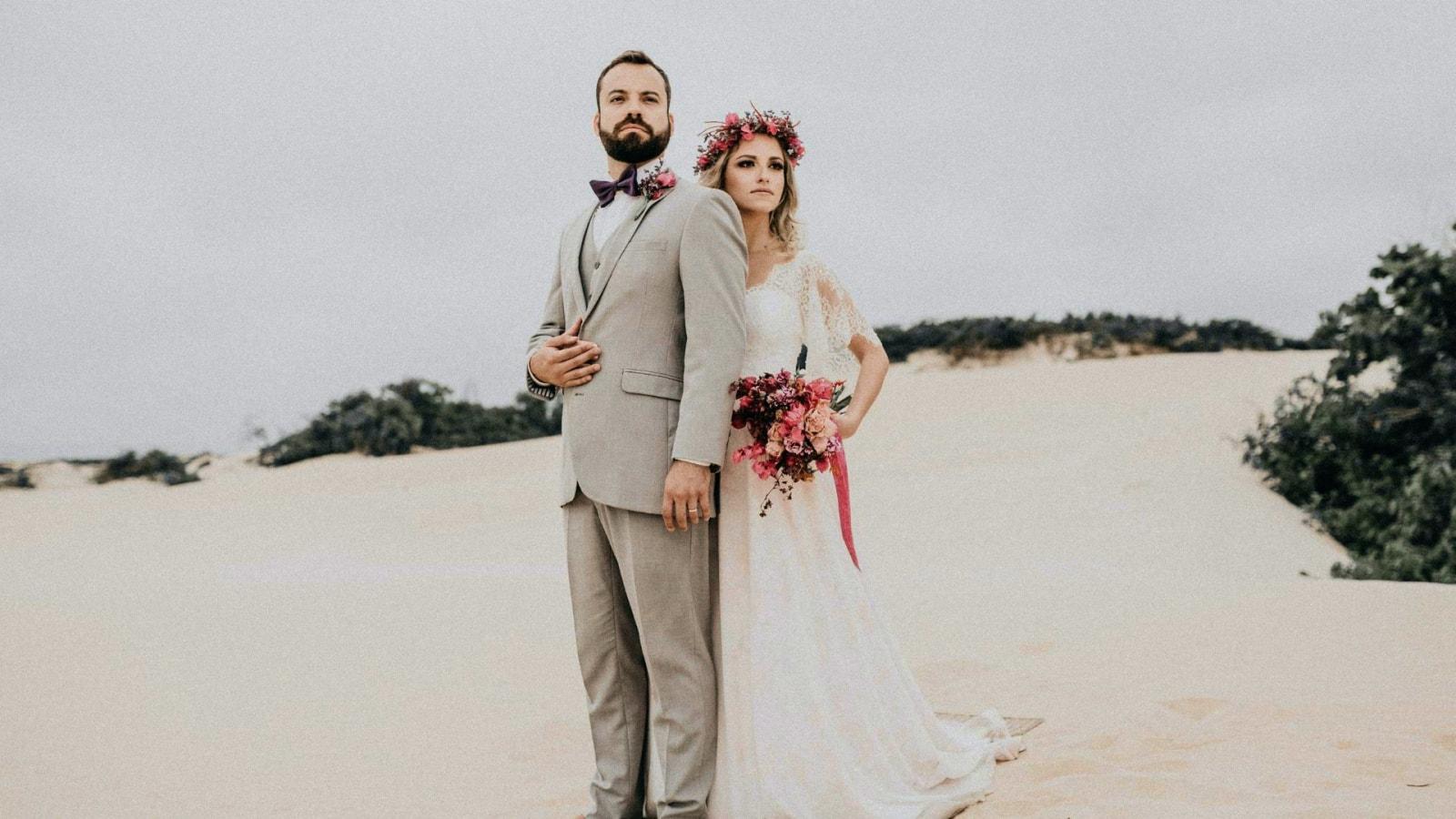 Vue des mariés dans la Nièvre