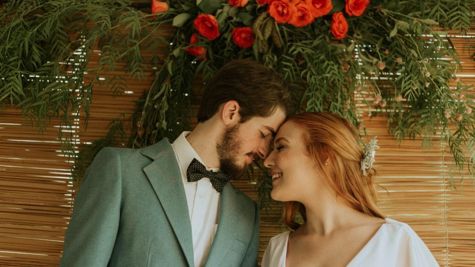 Le marié et la mariée dans les Pyrénées-Orientales