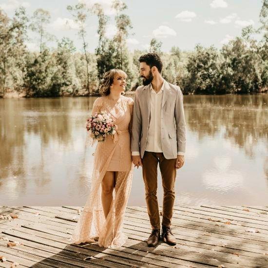Photo d'un couple de mariés