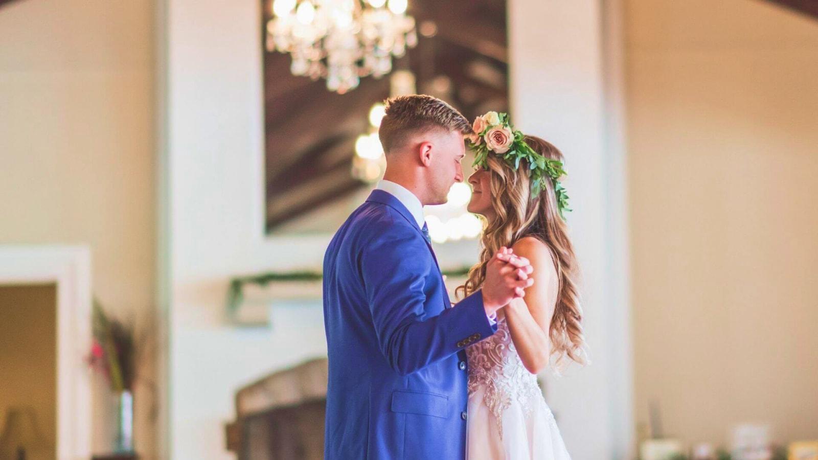 Une photo des mariés dans les Vosges