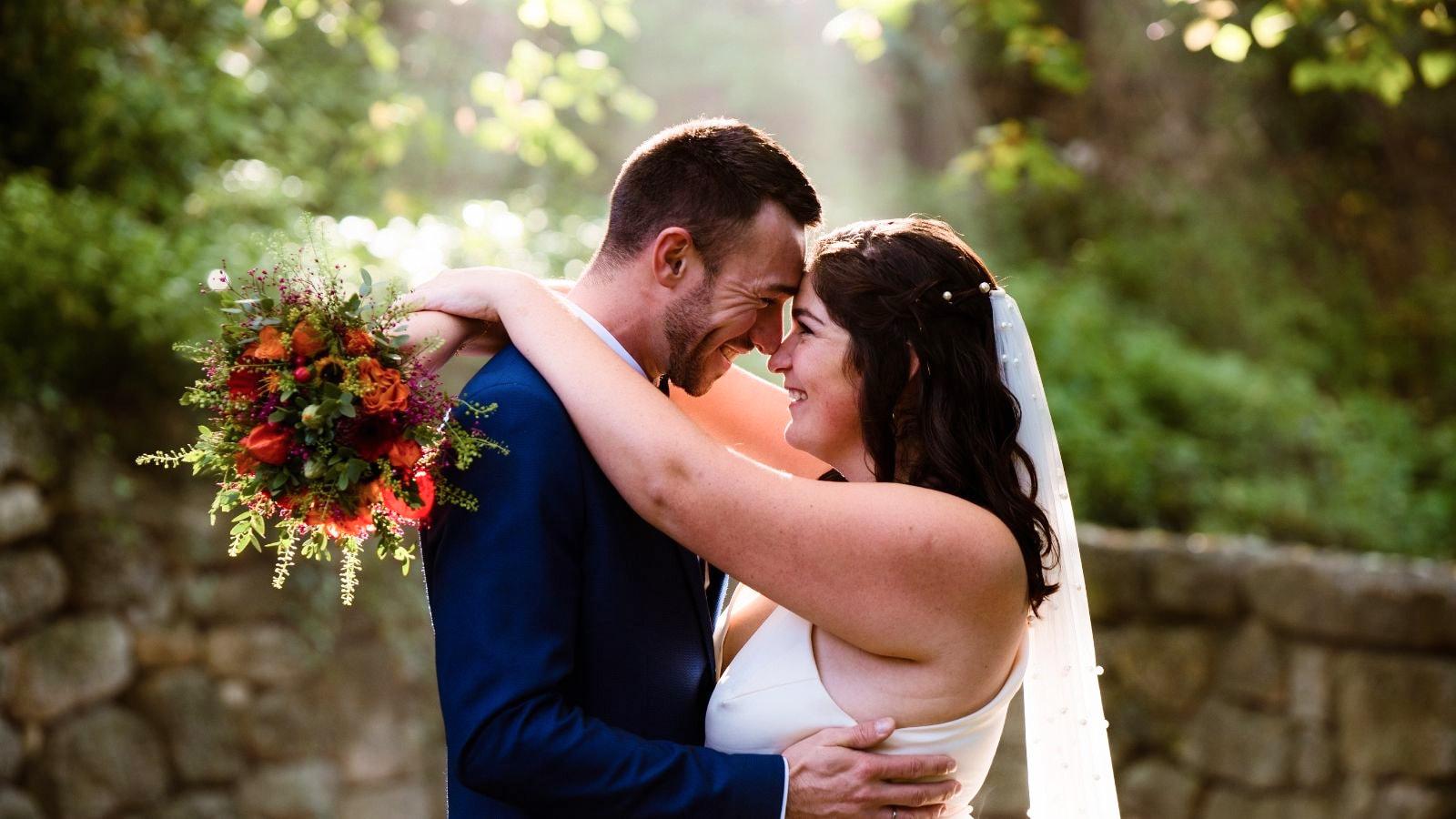 Photo des mariés ensemble en Occitanie